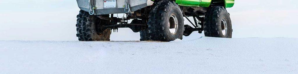 big tires snow