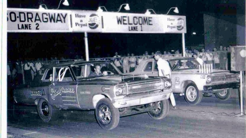 classic dodge coronet drag car